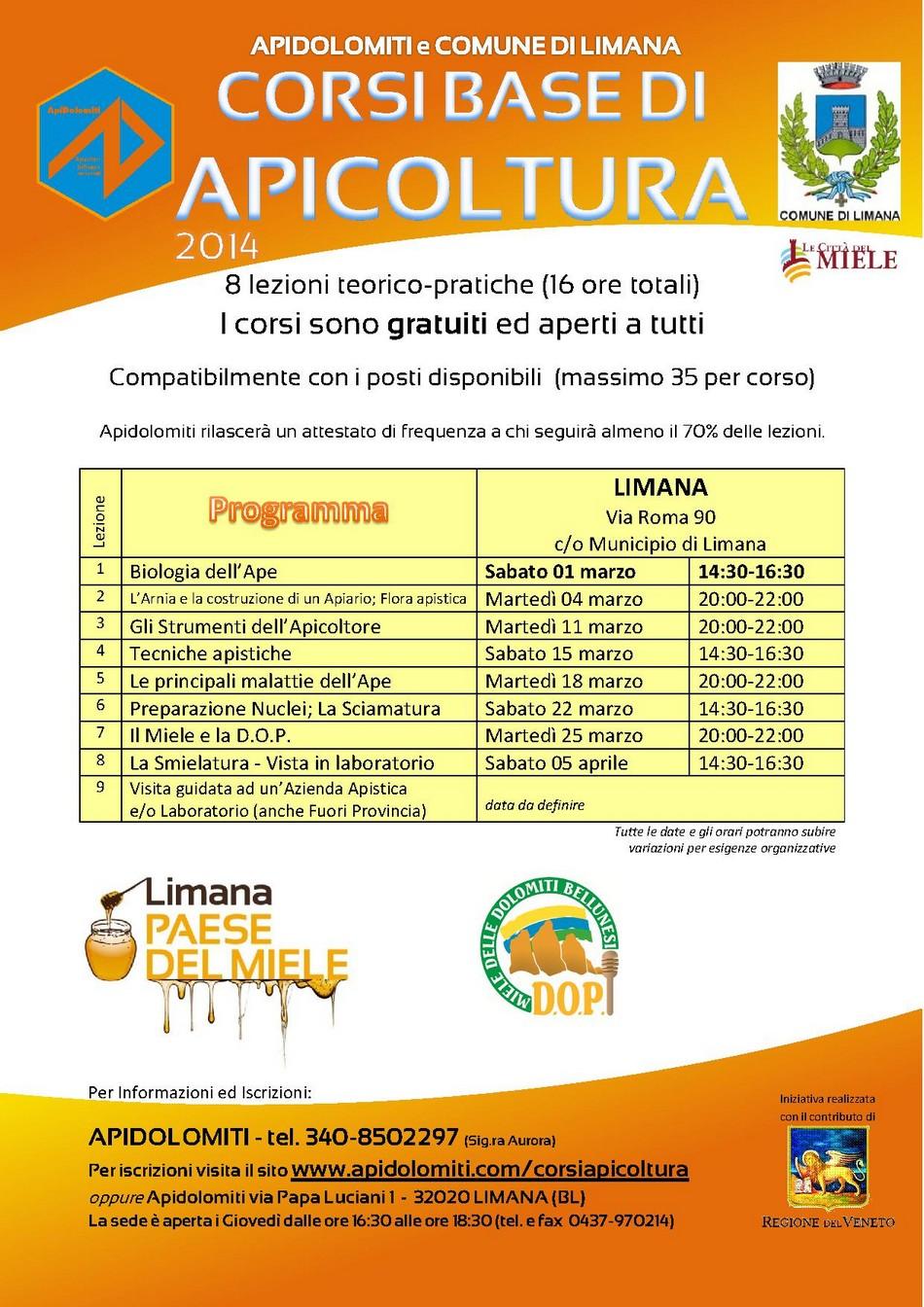 Corso APICOLTURA 2014 - LIMANA