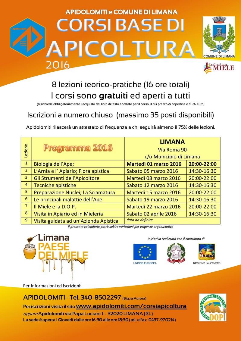Corso APICOLTURA 2016 - LIMANA
