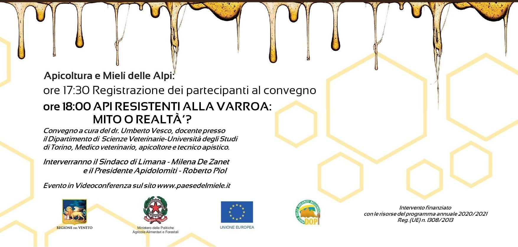 Convegno Apicoltura delle Alpi - Limana-2020